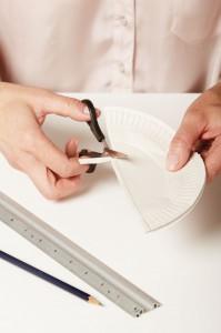 Designerleuchte aus Papptellern von trend4ward trendblog