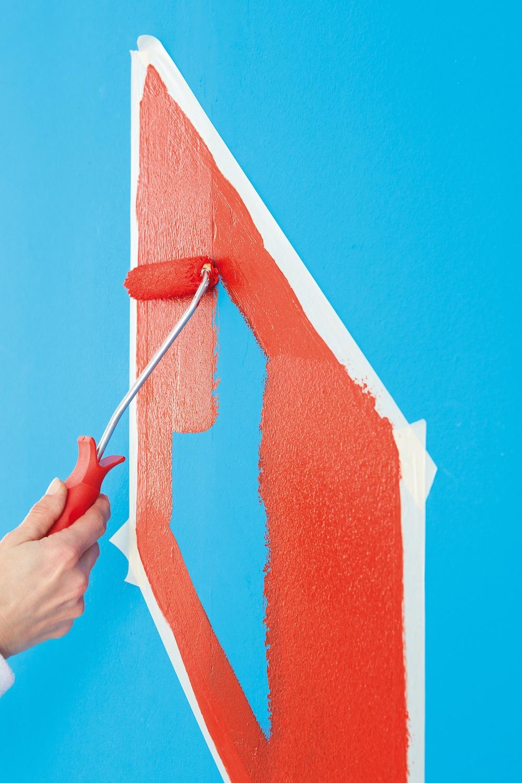 Selbstgemacht Kreatives Farbmuster An Der Wand Trendblog