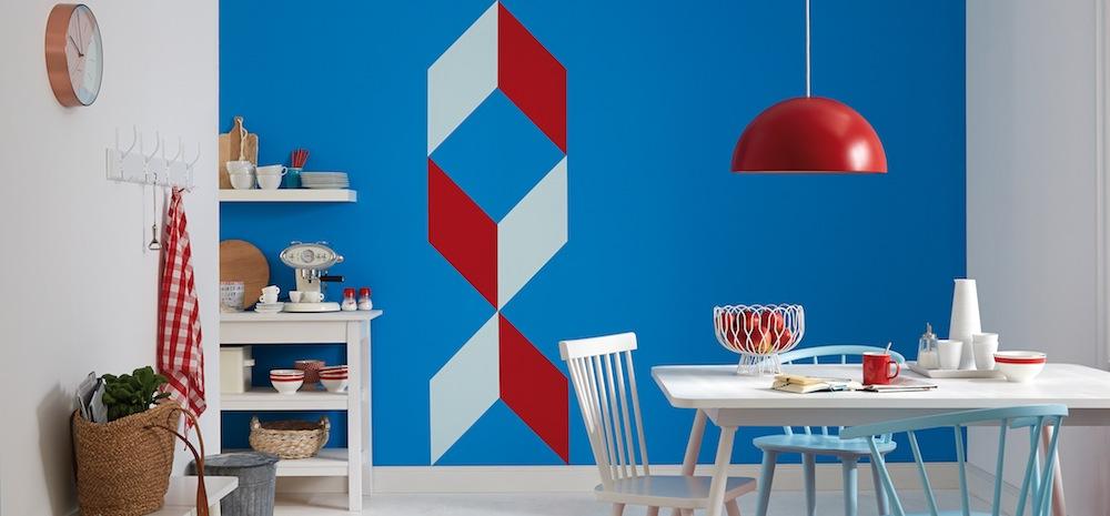 selbstgemacht kreatives farbmuster an der wand trendblog. Black Bedroom Furniture Sets. Home Design Ideas
