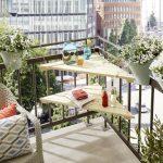 Selbstgemacht: Dreieckstisch für den Balkon