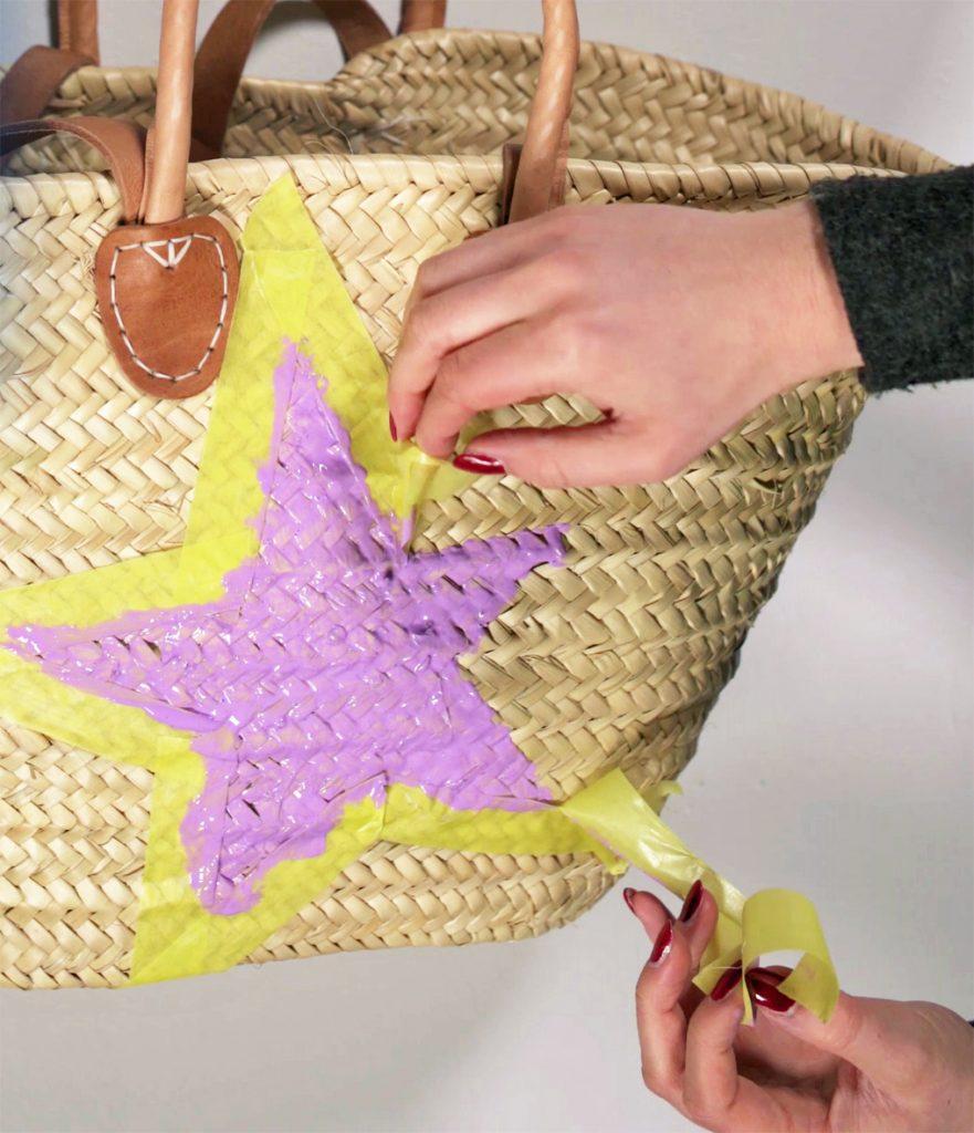 Upcycling Strandtasche mit Farbresten
