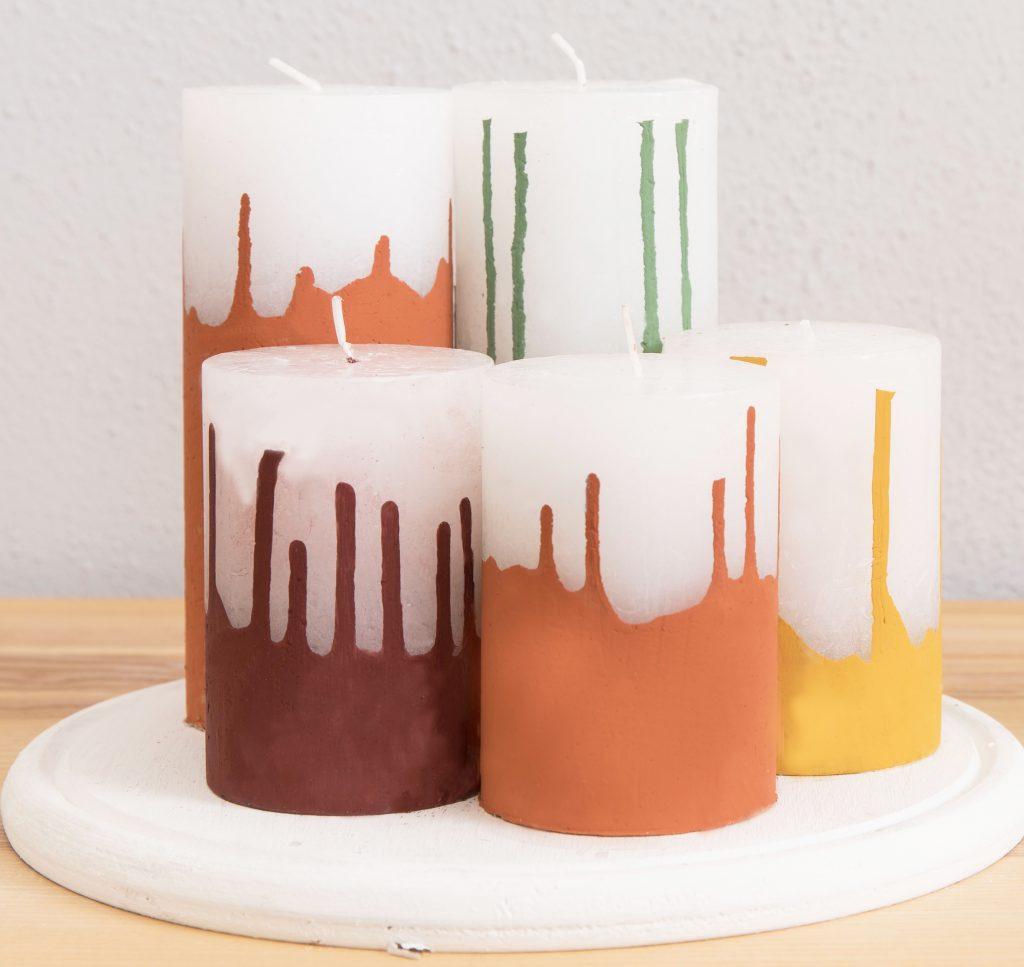 Upcycling Kerzen mit Farbresten