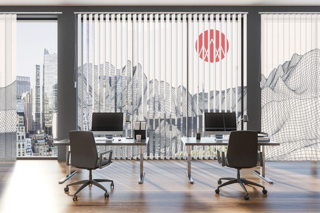Büro mit Lamellenvorhang La-Melle