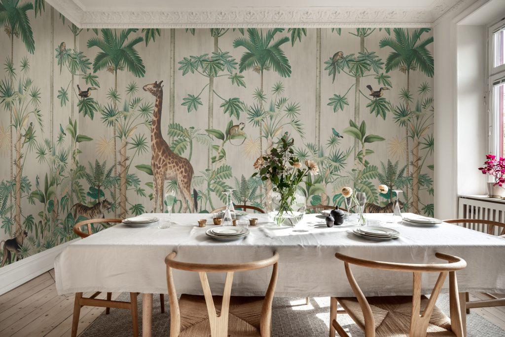 Giraffe Dschungel Tapete