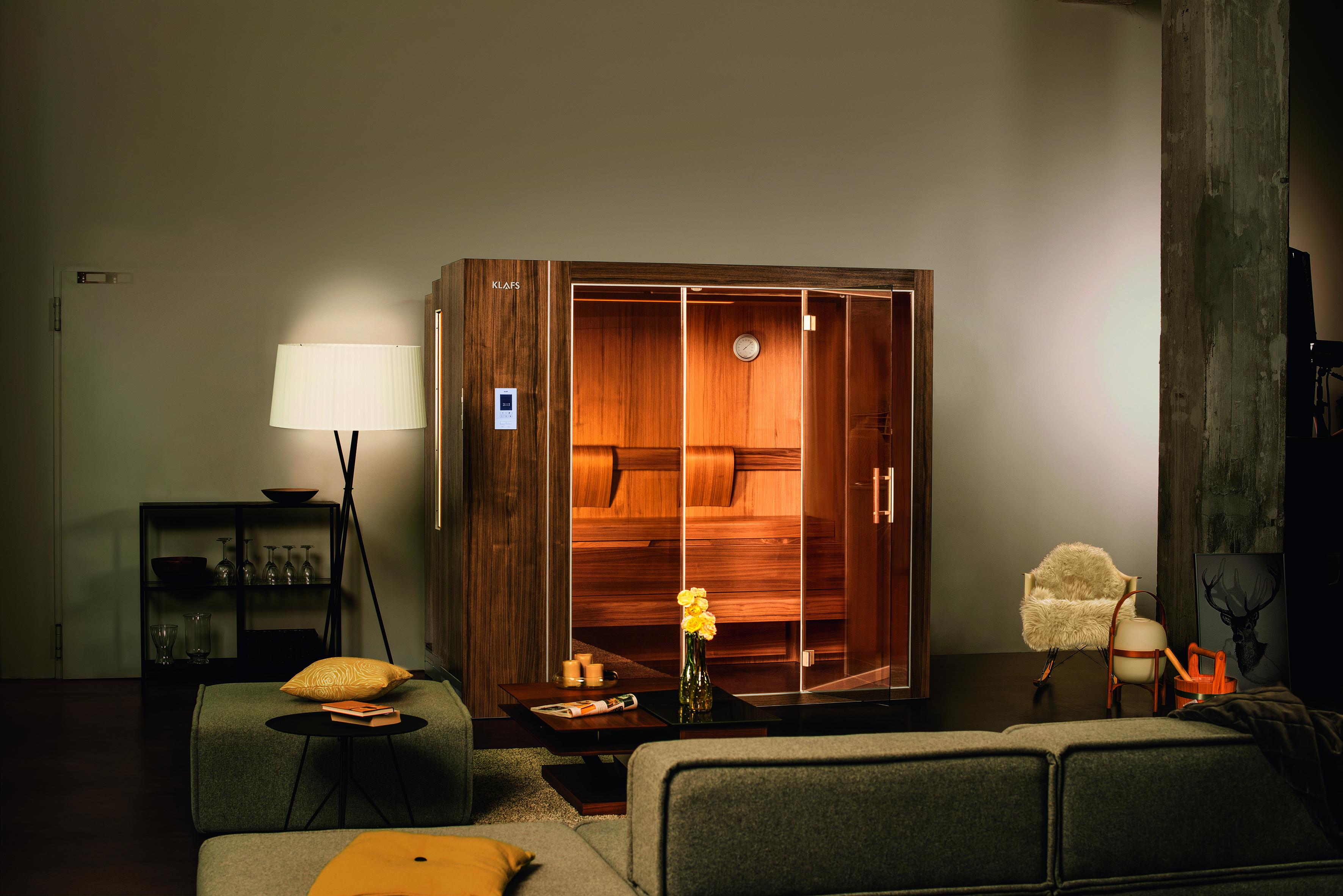 Sauna im Schrank von Klafs
